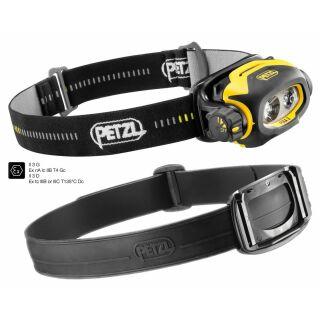 PETZL Profi-Bundle PIXA 3 (ATEX)  und Rubber-Band für Feuerwehrhelme, Bauhelme &  Outdoor