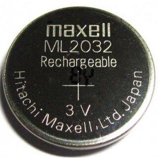 Maxell Knopfzelle 2032 Akku wiederaufladbar, Backup Knopfzelle