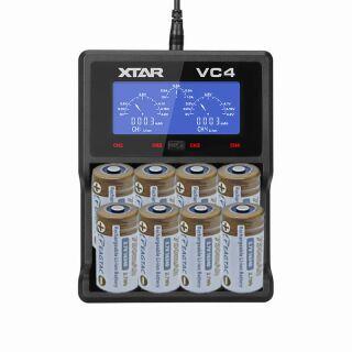 Premium Schnelladegerät VC4 inklusive 8x Eagtac ARB-L16-700 750 mAh Akku für ARLO Kameras