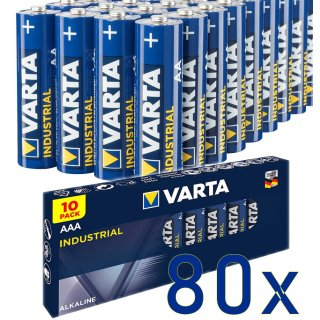 80er SPARSET Micro AAA 4003 Batterie Alkaline VARTA Industrial Made in Germany