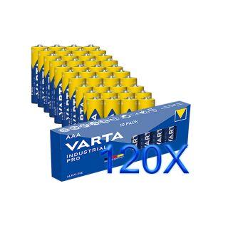 120er SPARSET Micro AAA 4003 Batterie Alkaline VARTA Industrial Made in Germany