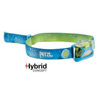 PETZL Kopflampe TIKKID E091BA00 Farbe Blau, speziell für KIDS Headlight
