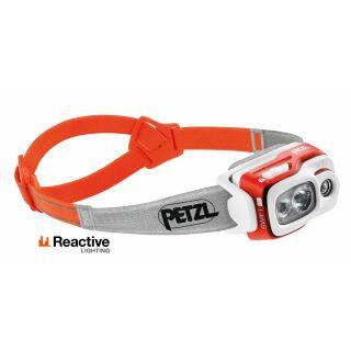 Petzl Stirnlampe SWIFT RL E095BA01 in Orange REACTIVE LIGHTING Technologie 900 Lumen