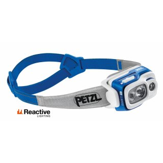 Petzl Stirnlampe SWIFT RL E095BA02 in Blau REACTIVE LIGHTING Technologie 900 Lumen