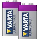 2x Varta 9V-Block 6122 Ultra Lithium Professional L522 MN1604 6FR22 Rauchmelder Funk-Rauchmelder und Heimrauchmelder