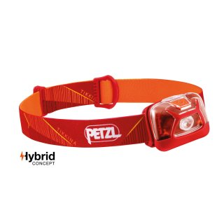 Petzl Kopfleuchte TIKKINA Headlight E091DA01 Rot, inkl. 3xAAA Batterien 250 Lumen