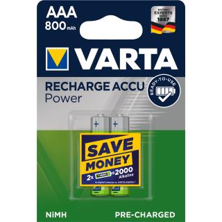 Varta 2er Pack Akku AAA / Micro 800 mAH Ready2Use