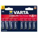 Varta LONGLIFE Max POWER Alkaline 4706-LR6-AA-Mignon- 8er...