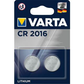Varta Lithium Knopfzelle CR 2016 3V -2er Blister