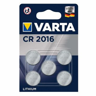 Varta Lithium Knopfzelle CR 2016 3V - 5er Blister