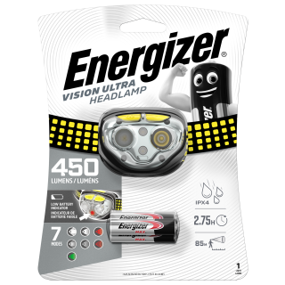 Energizer Pro+ Headlight LED 3 AAA VISION ULTRA 450 LM