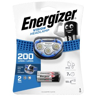 Energizer Kopfleuchte LED Vision HL blau inkl. 3 x AAA Batterien