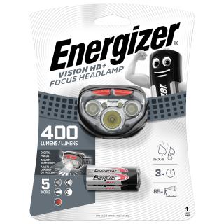 Energizer Headlight LED m. 3 AAA VISION HD+ Focus BLACK