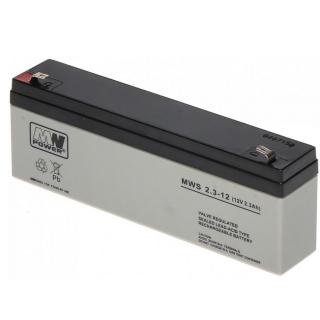 MW Power Bleigel Akku 1223 12V 2,3Ah 4,8mm FT