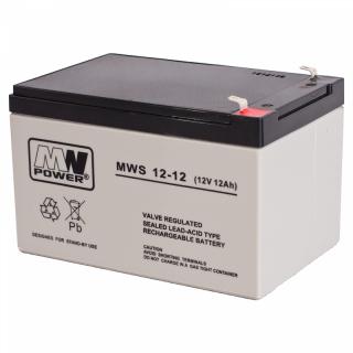 MW Power 12-12  Bleigel Akku 12V 12 Ah 151x98x94