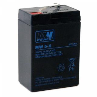 MW Power Akku 6-5,0 6V 5,0Ah (4,5) 4,8mm FT High Power