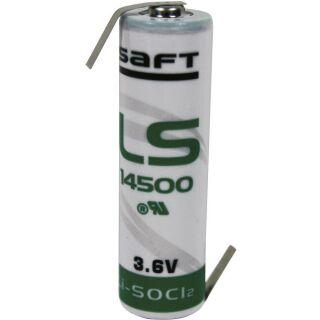 Saft LS14500 AA Lithium-Thionylchlorid 3,6V Premium Made in France - Z-Fahne