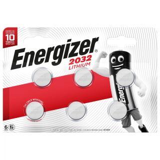 Energizer Lithium 3V CR2032 Knopfzelle 6er Blister