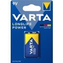 Varta 1er Pack Longlife Power Alkaline 9V / Block Batterie