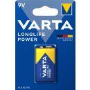 Varta 1er Pack Longlife Power Alkaline 9V / Block Batterie