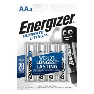 Energizer 4er Pack Ultimate Lithium AA / Mignon