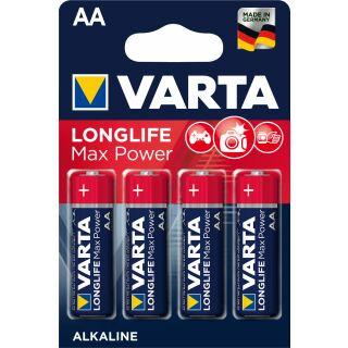 Varta 4er Pack Longlife Maxpower Alkaline AA / Mignon