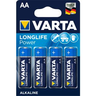 Varta Longlife Power Alkaline LR6-AA-Mignon-4906 - 4er Blister