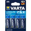 Varta Longlife Power Alkaline LR6-AA-Mignon-4906 - 4er...