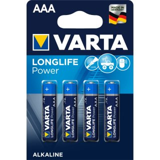 Varta 4er Blister Longlife Power AAA / Micro