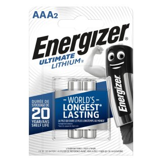 Energizer 2er Pack Ultimate Lithium AAA / Micro