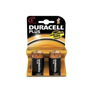 Duracell 2er Pack Plus C / Baby Batterie