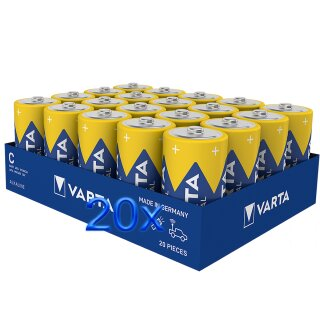 Varta Industrial Batterie C Baby Alkaline Batterien LR14-20er Pack, Made in Germany