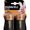Duracell 2er Pack Plus D / Mono Batterie
