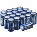 Varta Industrial Batterie D Mono Alkaline Batterien LR20-20er pack, Made in Germany