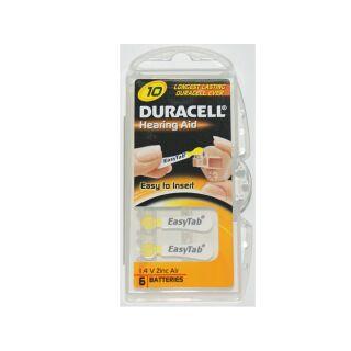 Duracell 6er Pack Easytab 10 Gelb Hörgerätebatterien