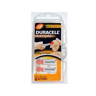 Duracell 6er Pack Easytab 13 Orange Hörgerätebatterien