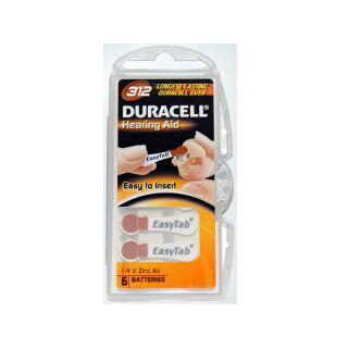 Duracell 6er Pack Easytab 312 Braun Hörgerätebatterien