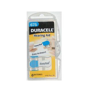 Duracell 6er Pack Easytab 675 Blau Hörgerätebatterien