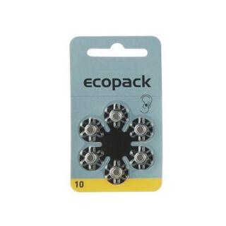 Varta 6er Pack Ecopack 10 Gelb Hörgerätebatterien
