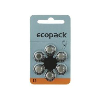 Varta 6er Pack Ecopack 13 Orange Hörgerätebatterien