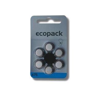 Varta 6er Pack Ecopack 675 Blau Hörgerätebatterien