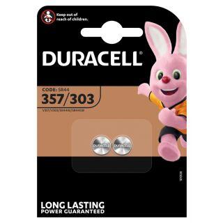 Duracell 2er Pack Silberoxid Uhrenbatterie 357-303 - SR44