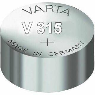 Varta 10er Pack Silberoxid Uhrenbatterie 315-SR67-SR716SW