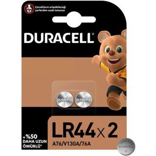 Duracell 2er Pack LR44/V13GA/A76 Alkaline-Knopfzelle