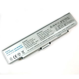 Akku kompatibel zu Sony VGP-BPS9A Li-Ion 4400 mAh silber