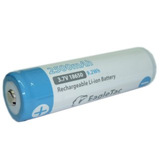 Eagtac 18650 Akku 3,7V Li-Ion 2600 mAh - Neue Version!!!
