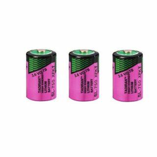 3 Stück  Tadiran SL750/S ER 1/2 AA Inorganic Lithium 3,6V batterie LTC